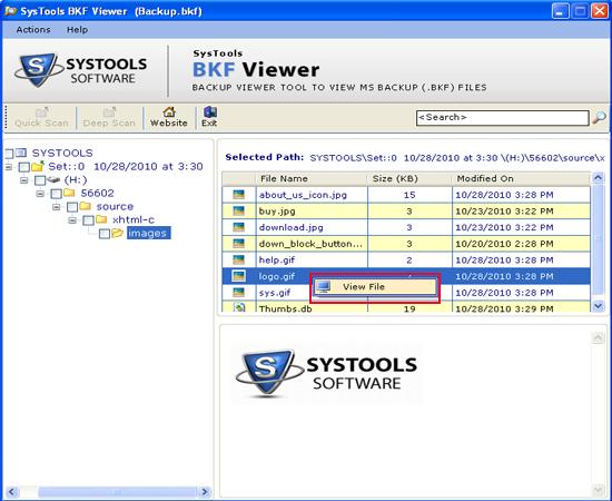 Windows BKF File Reader to View BKF Database